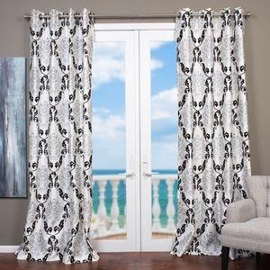 Vintage Accents - Vtg Lambrequin Arabella Flocked Curtain Panel